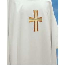Vestment, Chasuble Embroidered Cross, Plain neck  652