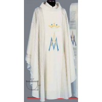 Vestment, Chasuble, Marian #815 White