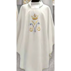 Vestment, Chasuble, Marian Symbol, square collar
