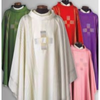 Vestment, Chasuble, Linea Cross, in RED