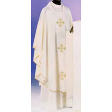 Vestment, Chasuble Three Embroidered Filigree Cross