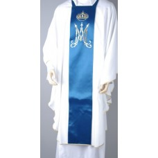 Deacon Dalmatic Marian Symbol with blue