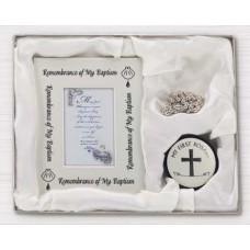 Baptism Frame & Rosary Set