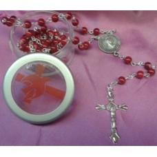 Confirmation Rosary & Dove Keepsake Box