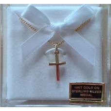 Cross, Gold Baby's Cross on chain
