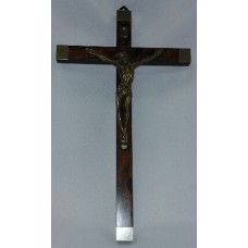 "Crucifix, Gold Tip Cross, 12""H"
