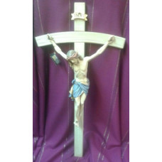 Crucifix, Hand Carved 24""