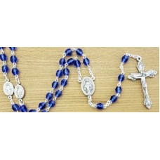 Rosary, Miraculous Medal and Royal Blue Beads