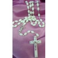Rosary, White Beads