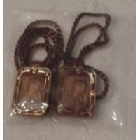 Scapular, Brown Framed scapular