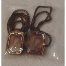 Scapular, Brown Framed scapular