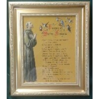 50% OFF St Francis Framed Picture with Prayer