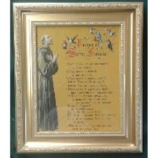 Framed Picture, St Francis with Prayer