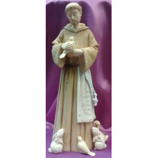 Statue, St. Francis with small Animals