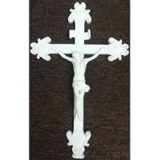 """Crucifix, White 18"""""""
