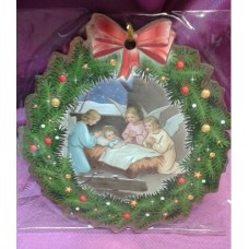 Ornament, Infant Jesus & Angels Wreath