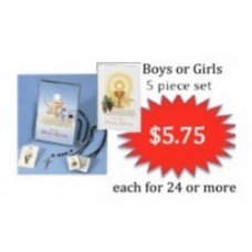 First Communion Missal and Rosary Set, Volume Pricing 24 or more