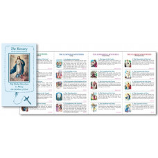 Rosary Folder with Luminous Mysteries,  English or Spanish.