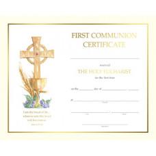 Certificate, First Communion, Border