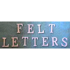 Felt Letter Set White or Red / Banner kit letters