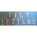 Felt Letter Set White or Red (Banner kit letters & Confirmation Gown Letters)