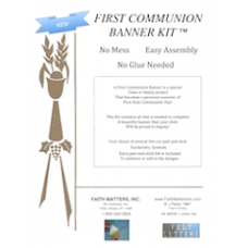 First Communion Banner Kit & LETTERS