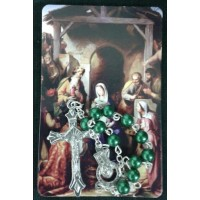 Rosary, One Decade Christmas Rosary and Prayer Card